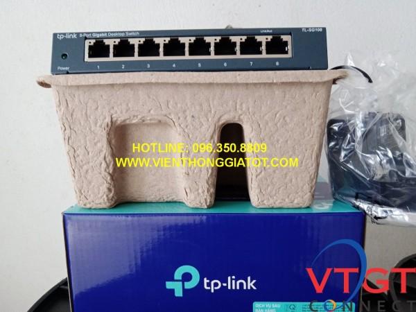 Switch 8 cổng Tplink TL-SG108 tốc độ 10/100/1000Mbps