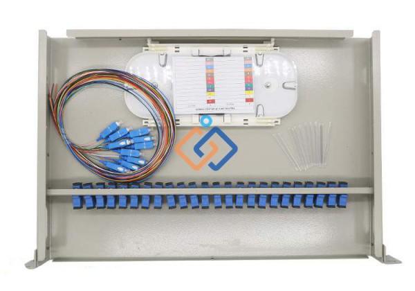 Hộp phối quang ODF 24Fo Multimode full phụ kiện