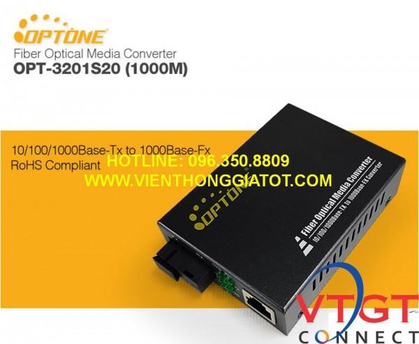 Bộ chuyển đổi quang điện 1 sợi 1G hãng Optone
