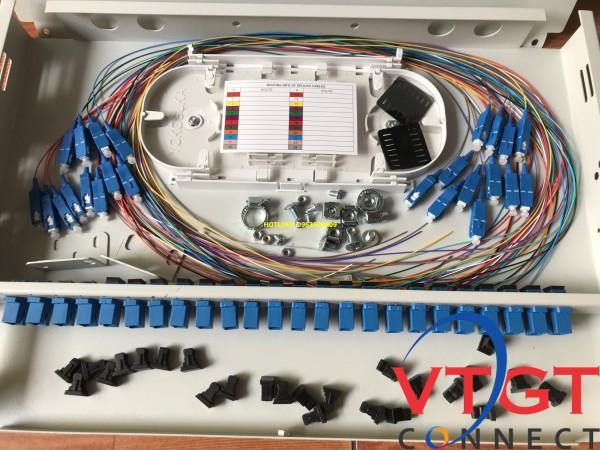 ODF 24 FO gắn rack 19 đầy đủ phụ kiện