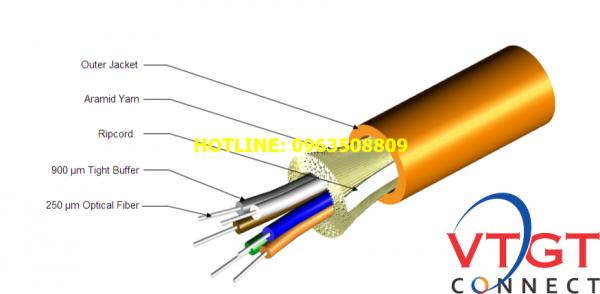 Cáp quang AMP CommScope multimodel OM3 8FO
