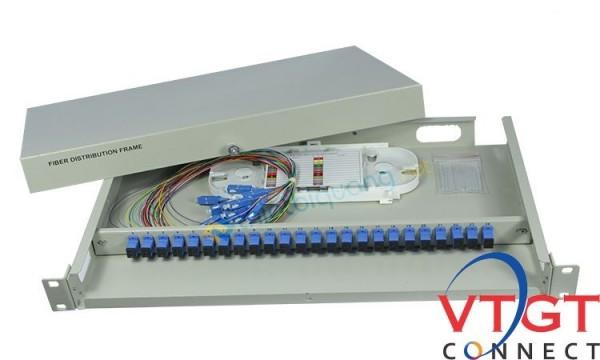 Hộp phối quang ODF 8Fo gắn rack bằng sắt gắn rack