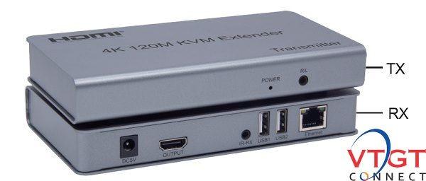 Bộ kéo dài HDMI qua dây mạng 120m 4K có USB