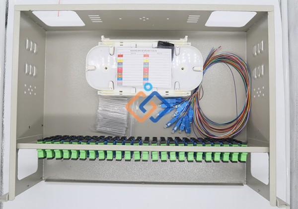 Hộp phối quang ODF 96Fo ngoài trời đầy đủ phụ kiện