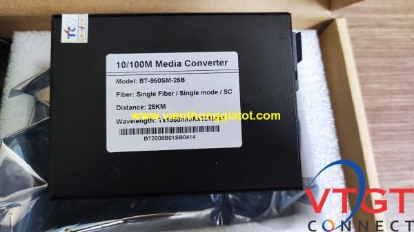 Converter quang 1 sợi tốc độ 10/100 Bton BT-950SM-25B