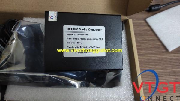 Bộ chuyển đổi quang điện 1 sợi tốc độ 10/100 Bton BT-950SM-25B