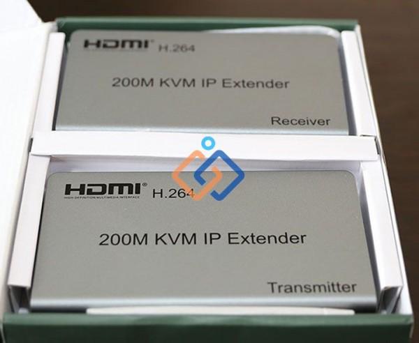 Bộ kéo dài HDMI 200m qua dây mạng LAN