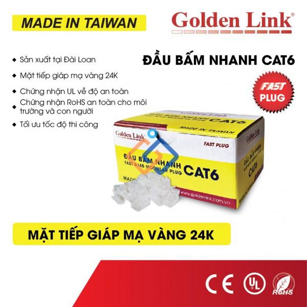 Hạt mạng RJ45 cat6 Golden Link