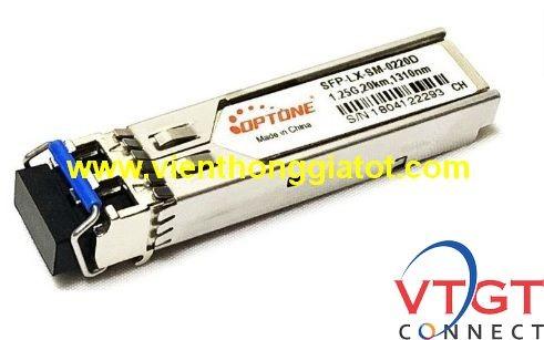 Module quang singlemode 1G 2 sợi optone SFP-LX-SM-0220D