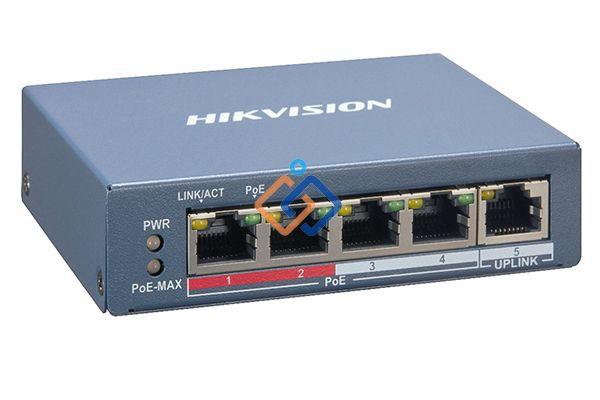 Switch Poe 4 cổng Hikvision 100M DS-3E0105P-E/M(B)